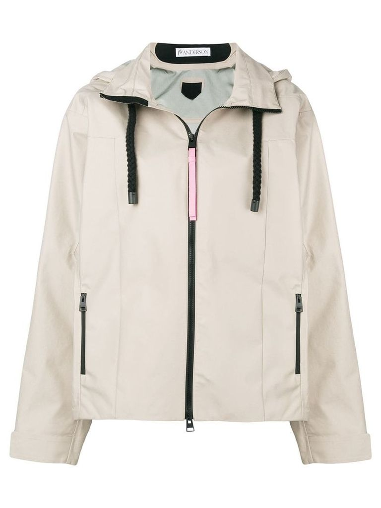 JW Anderson hooded shell jacket - Nude & Neutrals