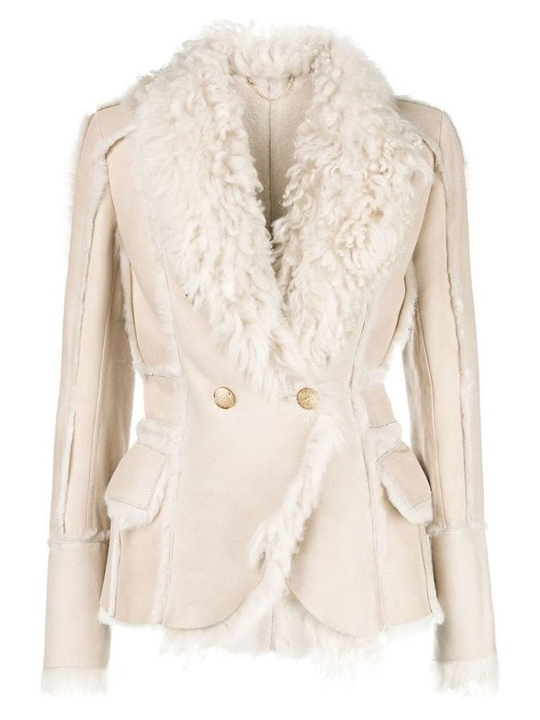Desa 1972 double breasted jacket - Nude & Neutrals