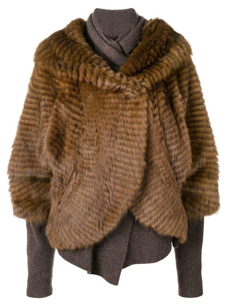 Liska sable and cashmere jacket - Brown