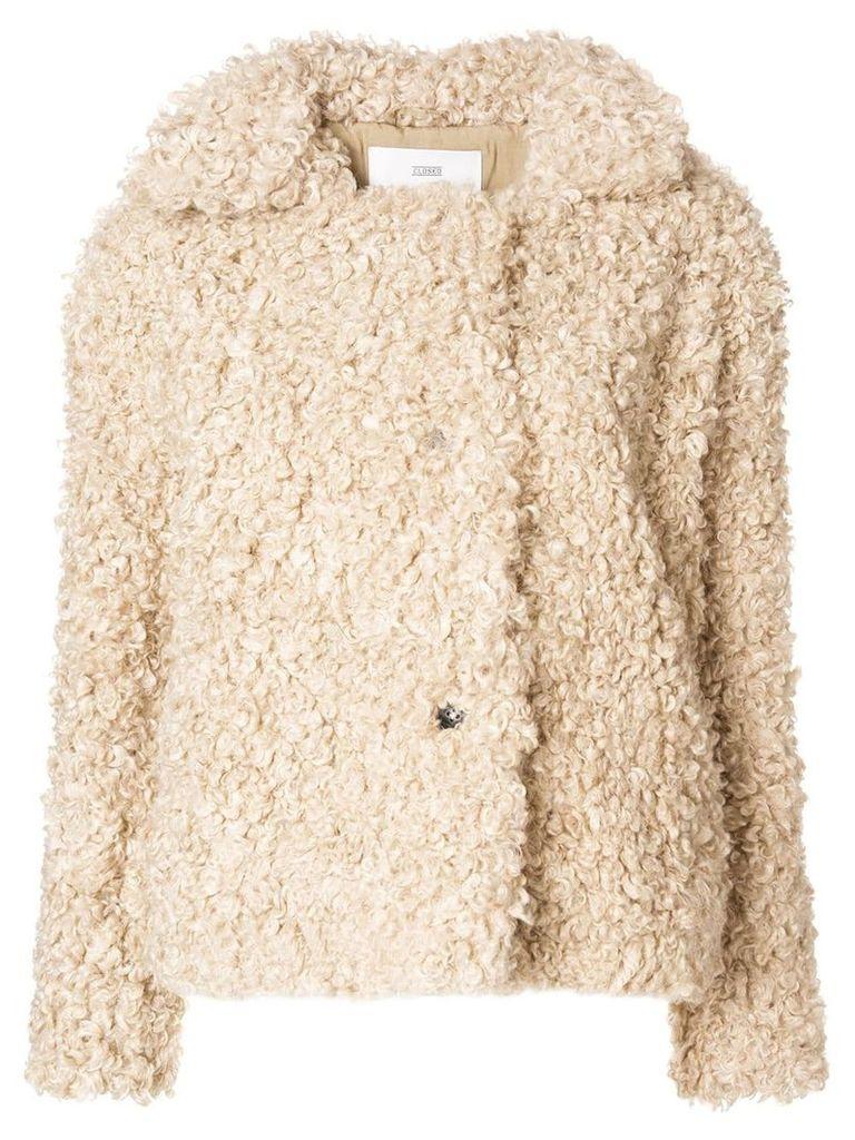 Closed artificial fur jacket - Nude & Neutrals