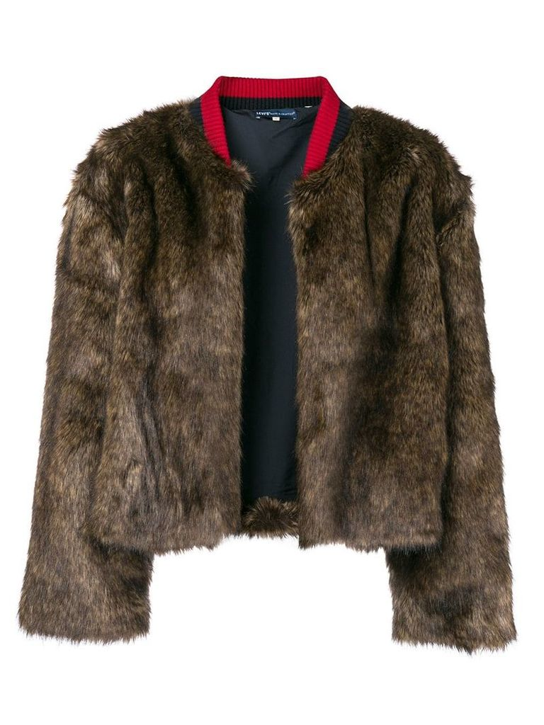 Levi's: Made & Crafted faux fur jacket - Brown