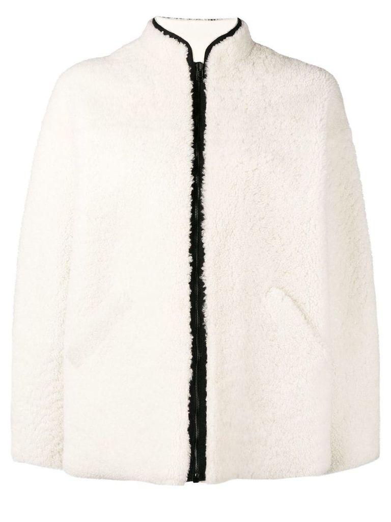 Inès & Maréchal fur jacket - White
