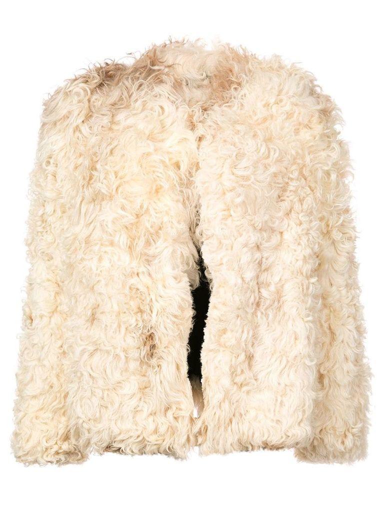 Saint Laurent short shearling jacket - Unavailable