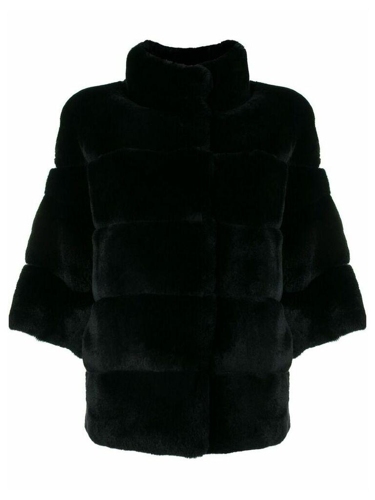 S.W.O.R.D 6.6.44 cropped sleeve jacket - Black