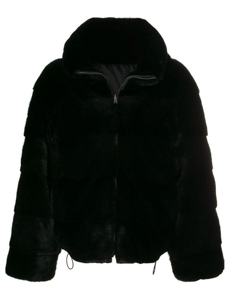 Amen reversible cropped jacket - Black