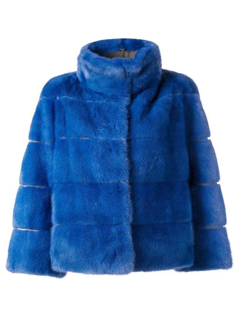 Arma short fur jacket - Blue