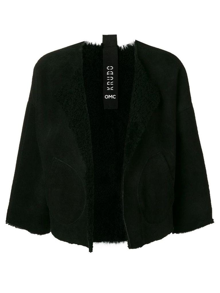 Omc cropped sleeve jacket - Black