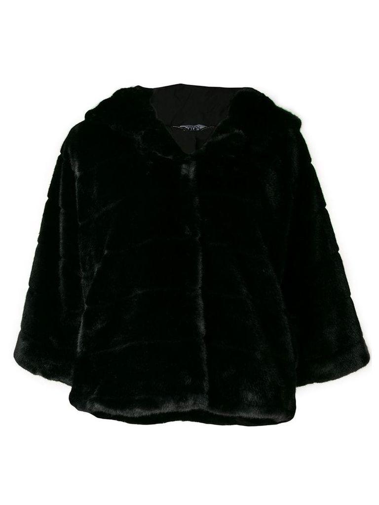 Liu Jo faux fur hooded jacket - Black