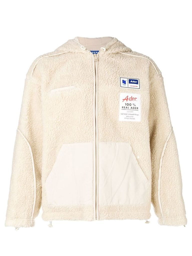 Ader Error oversized reversible hooded jacket - Nude & Neutrals