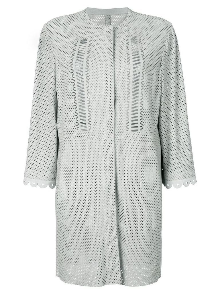 Drome long perforated jacket - Nude & Neutrals