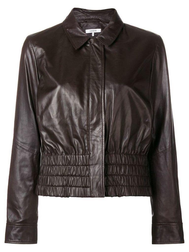 Ganni Rhinehart leather jacket - Brown