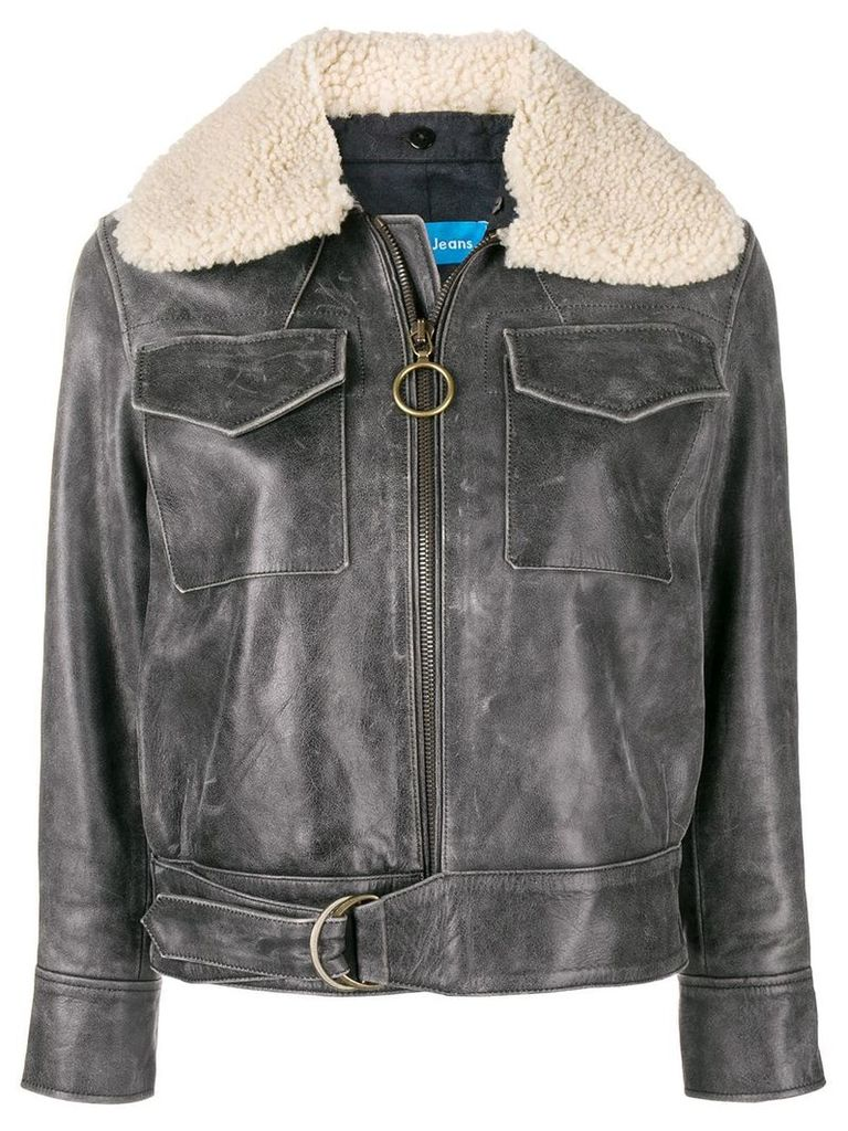 Mih Jeans Hardy leather jacket - Black