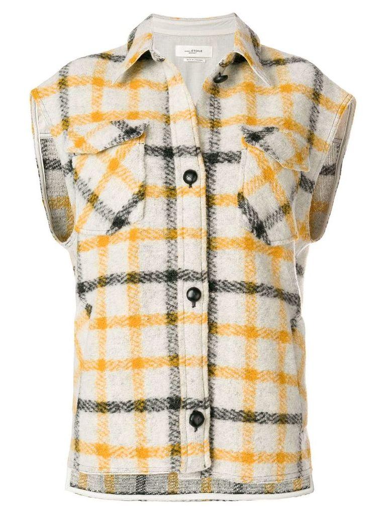 Isabel Marant Étoile sleeveless checked jacket - White