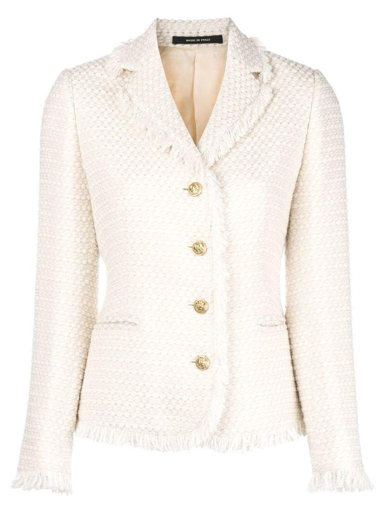 Tagliatore tweed jacket - Nude & Neutrals