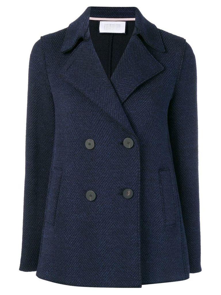 Harris Wharf London pea jacket - Blue