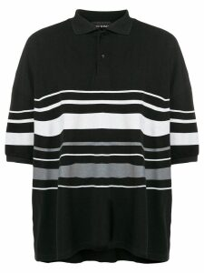Yuiki Shimoji oversize striped polo shirt - Black