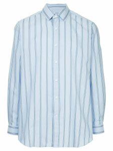 Ports V embroidered back striped shirt - Blue