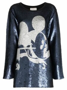 Faith Connexion Mickey sequin embellished blouse - Blue