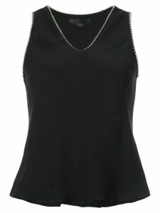 Alexander Wang v-neck bead-embellished blouse - Black