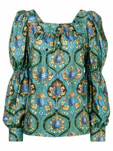 La Doublej printed peasant top - Blue