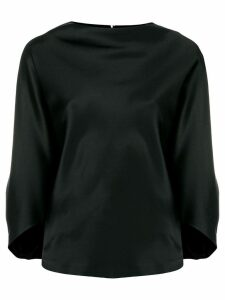 Chalayan signature drape boat neck blouse - Black