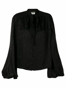 Saint Laurent pussy bow blouse - Black