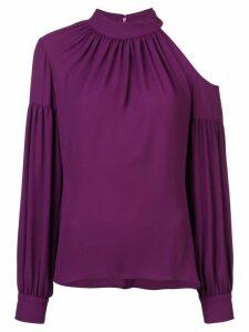 Josie Natori cut out detail blouse - Pink
