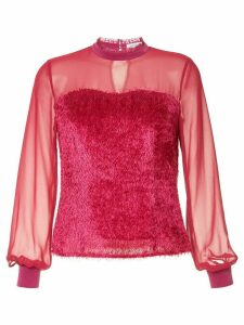Guild Prime sheer fringed blouse - PINK