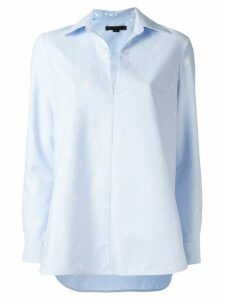Alexander Wang paint splatter blouse - Blue