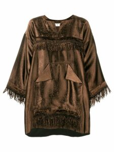 Marni oversized fringe blouse - Brown