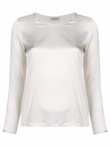 Blanca round neck blouse - White