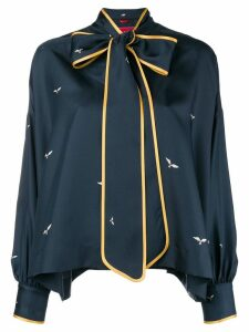 F.R.S For Restless Sleepers bow neckline blouse - Blue