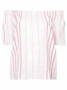 lemlem striped off shoulder blouse - White