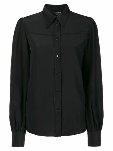 Rochas longsleeved button blouse - Black