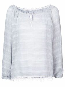 Lemlem drawstring neck blouse - Grey