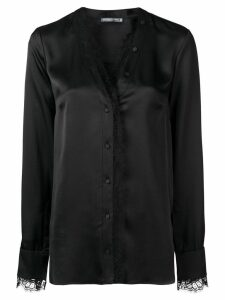 Alexander McQueen lace-trim blouse - Black