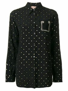 Nº21 glitter circles blouse - Black
