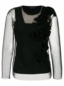 Gloria Coelho applique blouse - Black