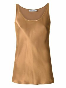 Gloria Coelho sleeveless silk blouse - Brown