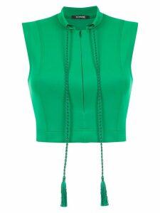 À La Garçonne drawstring cropped blouse - Green