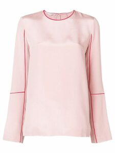 Stella McCartney round neck blouse - Pink