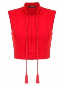 À La Garçonne cropped blouse - Red