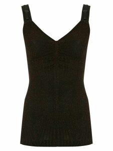 À La Garçonne lurex blouse - Black