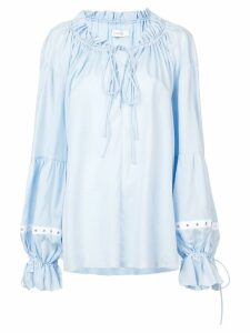 Marques'Almeida oversized gathered blouse - Blue