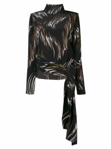 Givenchy abstract print blouse - Black