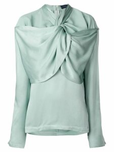 Eudon Choi gathered neckline blouse - Green