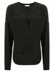 Faith Connexion lace hem blouse - Black