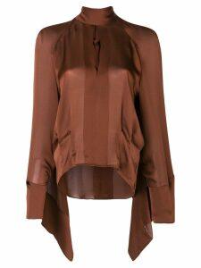 Petar Petrov halterneck blouse - Brown