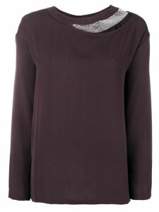 Fabiana Filippi layered long sleeved blouse - Pink