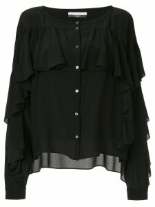 Faith Connexion ruffle buttoned blouse - Black